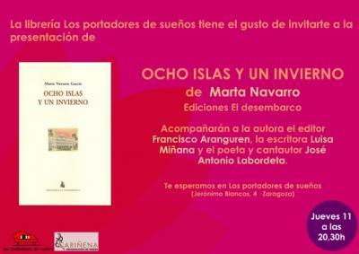 PRESENTACIÓN DEL LIBRO OCHO ISLAS Y UN INVIERNO