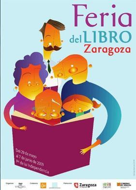 Feria del libro de Zaragoza. Programa para los días 29, 30 y 31 de mayo.