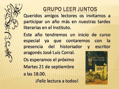 TERTULIAEN EL IES. GRUPO LEER JUNTOS