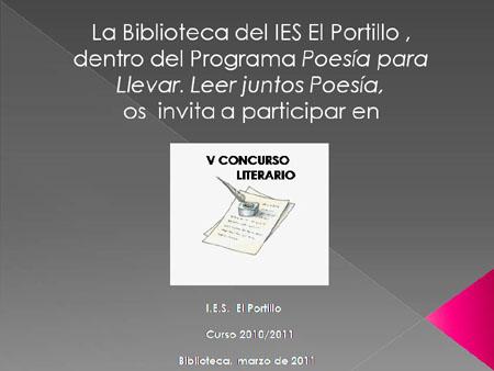 CONCURSO LITERARIO EN EL IES